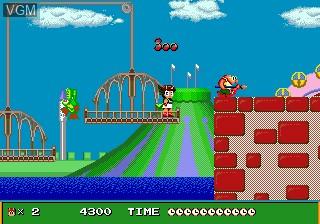 In-game screen of the game Marvel Land on Sega Megadrive