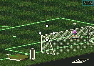 In-game screen of the game Pele's World Tournament Soccer on Sega Megadrive