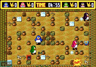 In-game screen of the game Pengo on Sega Megadrive