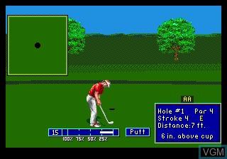 In-game screen of the game PGA European Tour on Sega Megadrive
