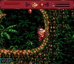 In-game screen of the game Radical Rex on Sega Megadrive