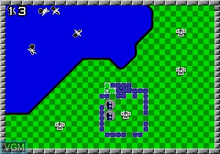 In-game screen of the game Rampart on Sega Megadrive