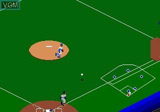 In-game screen of the game RBI Baseball 3 on Sega Megadrive