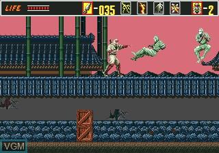 In-game screen of the game Revenge of Shinobi, The on Sega Megadrive