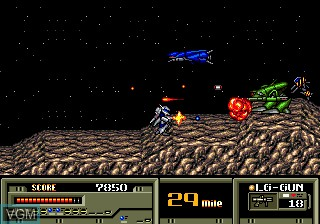 In-game screen of the game Target Earth on Sega Megadrive
