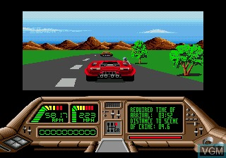 In-game screen of the game Technocop on Sega Megadrive