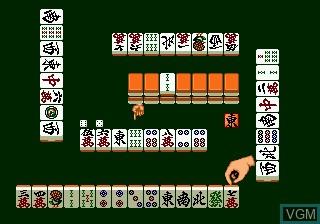 In-game screen of the game Tel Tel Mahjong on Sega Megadrive