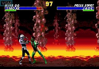 In-game screen of the game Ultimate Mortal Kombat 3 on Sega Megadrive