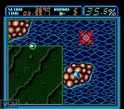 In-game screen of the game Ultimate Qix on Sega Megadrive