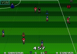 In-game screen of the game Ultimate Soccer on Sega Megadrive