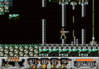 In-game screen of the game Universal Soldier on Sega Megadrive