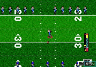 In-game screen of the game Unnecessary Roughness 95 on Sega Megadrive