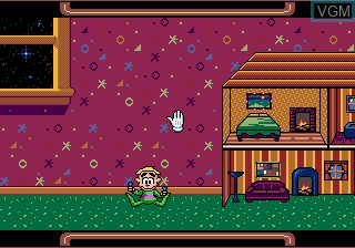 In-game screen of the game Wacky Worlds on Sega Megadrive