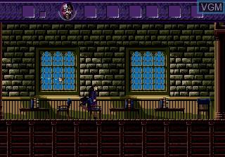 In-game screen of the game Warlock on Sega Megadrive