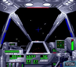 In-game screen of the game Warpspeed on Sega Megadrive