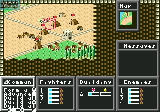 In-game screen of the game Warrior of Rome II on Sega Megadrive