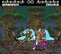 In-game screen of the game Weaponlord on Sega Megadrive