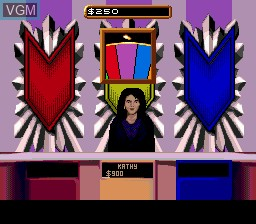 In-game screen of the game Wheel of Fortune on Sega Megadrive