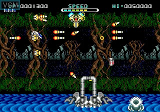 In-game screen of the game Whip Rush 2222 AD on Sega Megadrive
