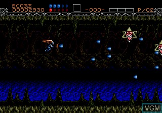 In-game screen of the game Wings of Wor on Sega Megadrive