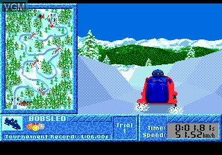 In-game screen of the game Winter Challenge on Sega Megadrive