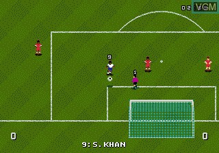 In-game screen of the game World Cup USA 94 on Sega Megadrive
