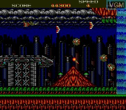 In-game screen of the game X Dazedly Ray on Sega Megadrive
