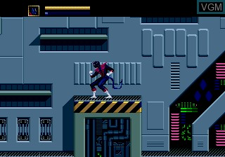 In-game screen of the game X-Men on Sega Megadrive