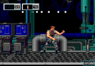 In-game screen of the game X-perts on Sega Megadrive