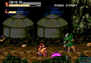 In-game screen of the game Yang Warrior Family, The on Sega Megadrive