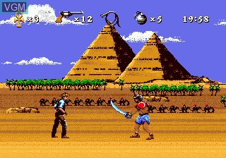 In-game screen of the game Young Indiana Jones - Instrument of Chaos on Sega Megadrive