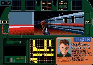 In-game screen of the game Zero Tolerance on Sega Megadrive