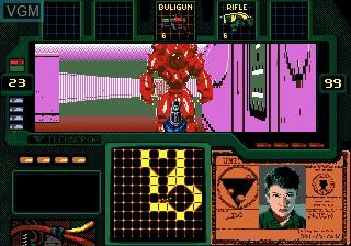 In-game screen of the game Beyond Zero Tolerance on Sega Megadrive