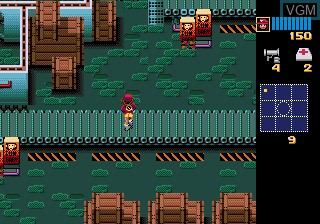In-game screen of the game Zombies Ate My Neighbors on Sega Megadrive