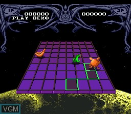 In-game screen of the game Zoom! on Sega Megadrive