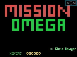 Title screen of the game Mission Omega on Memotech MTX 512