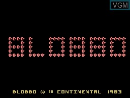 Title screen of the game Blobbo on Memotech MTX 512