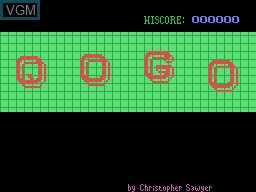 Title screen of the game Qogo on Memotech MTX 512