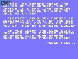 Menu screen of the game Nemo on Memotech MTX 512