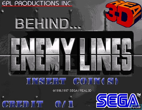 Title screen of the game Behind Enemy Lines on Model 2