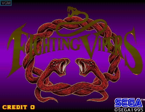 Title screen of the game Fighting Vipers on Model 2