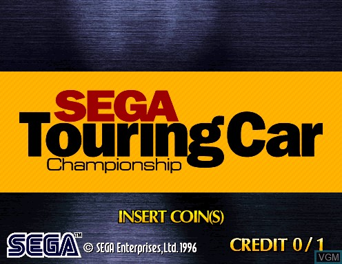 Title screen of the game Sega Touring Car Championship on Model 2