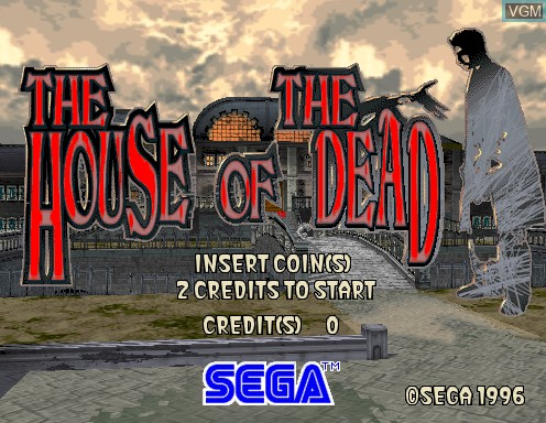 Title screen of the game House of The Dead, The on Model 2