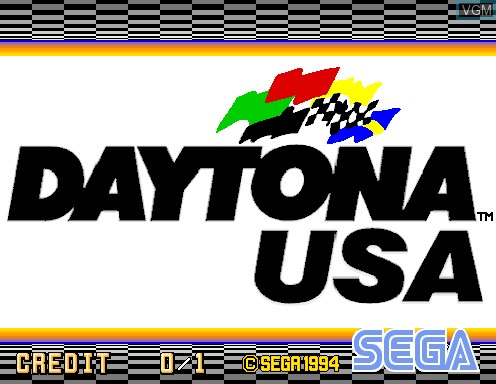 Title screen of the game Daytona USA on Model 2