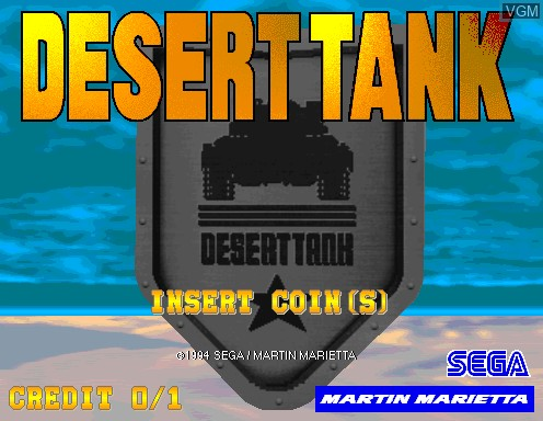 Title screen of the game Desert Tank on Model 2