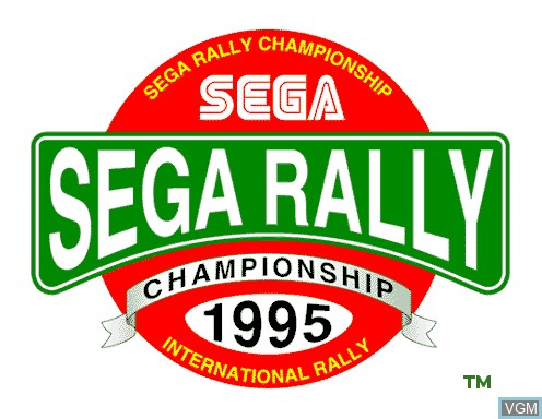 Title screen of the game Sega Rally on Model 2