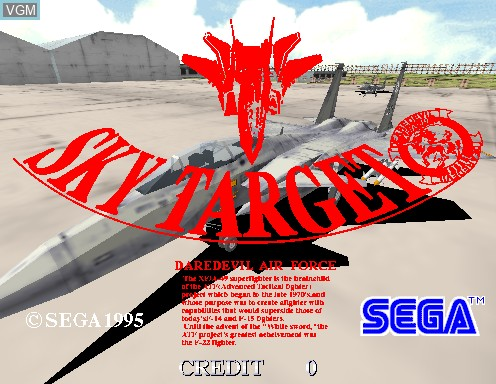 Title screen of the game Sky Target on Model 2