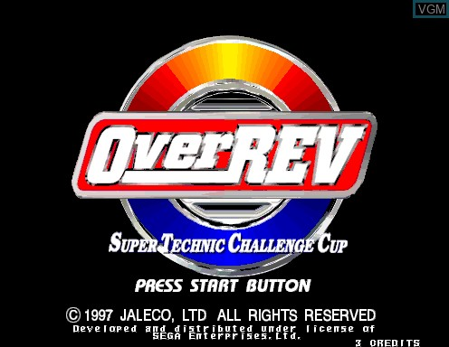 Title screen of the game Over Rev on Model 2