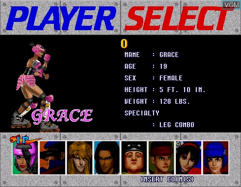 Menu screen of the game Fighting Vipers on Model 2