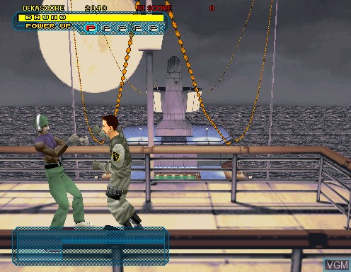 In-game screen of the game Dynamite Cop on Model 2